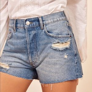 Dixie High Rise Reformation Jean Shorts